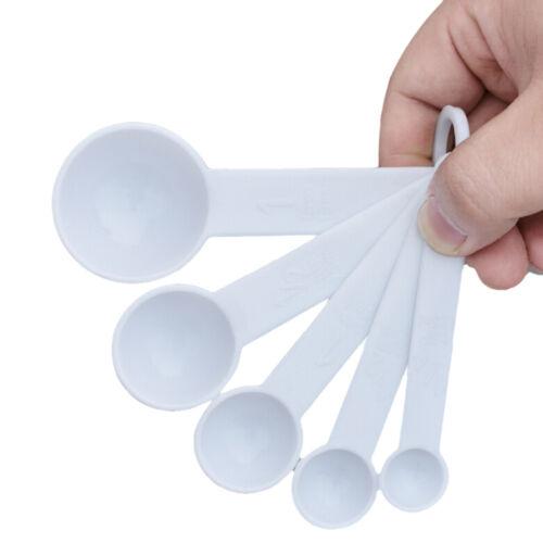 5 pcs set measuring spoon plastic teaspoon scoop for Teaspoon v tablespoon