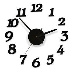 Modern large wall clock 3D Mirror Striker Unique Big Number Watch DIY Decor
