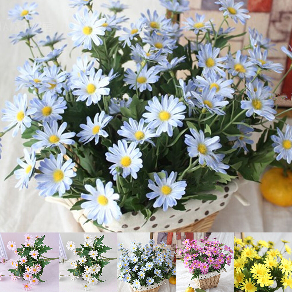 Artificial Silk Daisy Flowers Fake Bouquet for DIY Wedding Party Home Decor