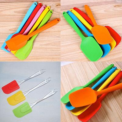 1stk Silikon Backen Werkzeug-Kuchen Creme Butter Mixing Batter Löffel Farbe Creme Küchenutensilien