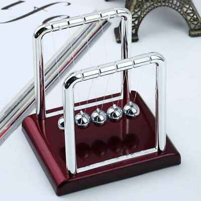 Steel Balance Metal Balls Desk Toy Newtons Cradle Physics Science Pendulum