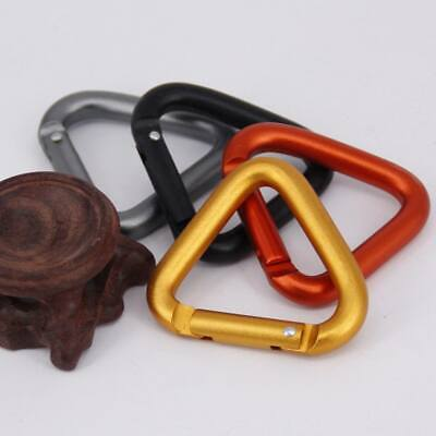 10pcs Outdoor Triangle Carabiner Camping Hiking Keychain Snap Hook Kettle Buckle for sale  Shipping to Ireland