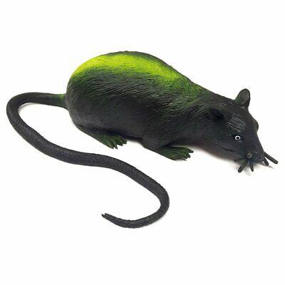 Stretchy Squishy Rubber Black Rat Toy - Fun Squishy Halloween Toy - Halloween Rat Games