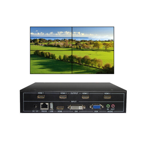 4 Channel TV Video Wall Controller 2x2 1x3 1x2 HDMI DVI VGA USB Video Processor