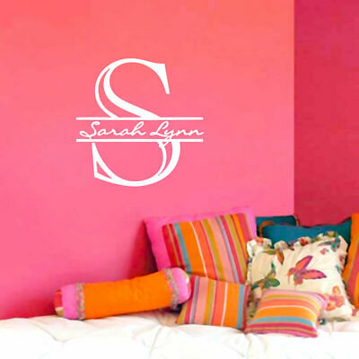 Wedding Wall Decor (Custom Monogram With Name Wall Decal - Personalized, Family, Wedding, Wall)