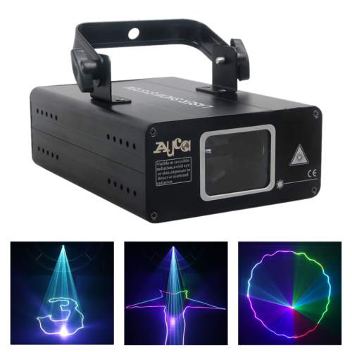500mW RGB Beam Projector DMX Colorful Sound Scan Laser Music