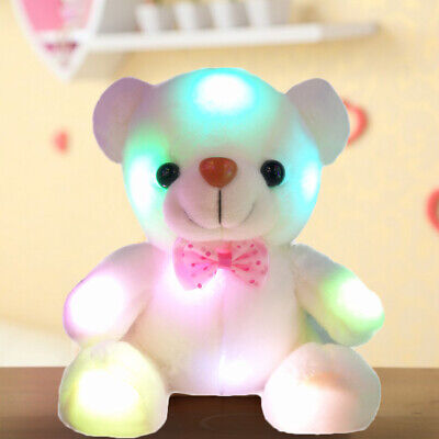 Kids Light Up Toys (Light Up LED Teddy Bear Doll Stuffed Animals Plush Soft Toys Kids Xmas)
