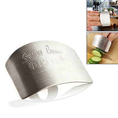 Stainless Steel Finger Hand Protector Guard Chop Slice Safe Kitchen Tool