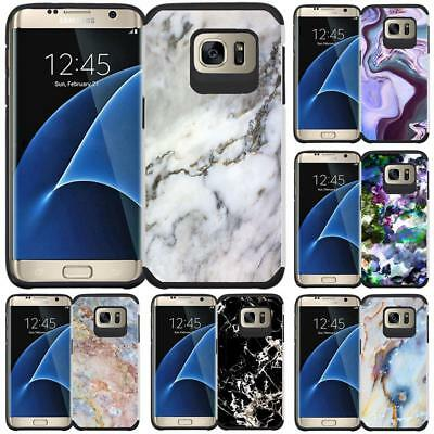 Marble Design Hybrid Case Protective Phone Cover for Samsung