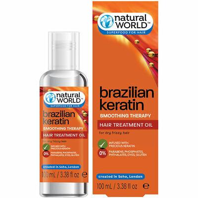 Natural World Brazilian Keratin Smoothing Therapy Hair Treatment Oil (Natural World Brazilian Keratin Hair Treatment Oil)