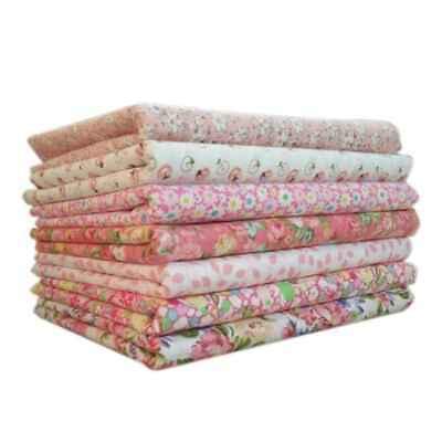 7Pcs DIY Colourful 100% Cotton Fabric Assorted Pre-Cut Fat Quarters Bundle RU