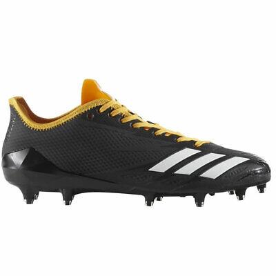 adidas Adizero 5-star 6.0 Low Football Cleats - Black/Yellow - BW0337 - Size: 14