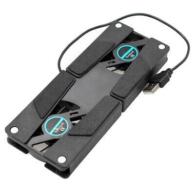 Dual Computer-schreibtisch (Laptop Schreibtisch Dual Lüfter Notebook Computer Ständer USB Gestell Halter)