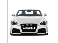 "Brand New 2017 ""17"" Plate Custom Number Plate Great for a White TT"