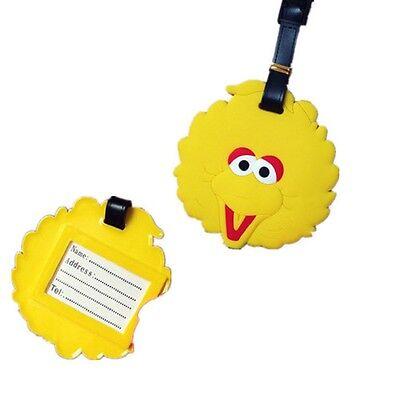 Sesame Street Big Bird Luggage Tag for Boys and (Boys Sesame Street Big Bird)