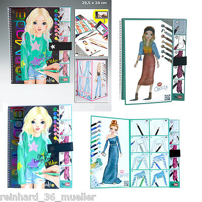 TOPModel Malbuch, Special Design Book + Videos Top Model Neuheit Depesche