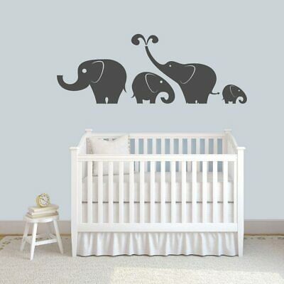 - Elephant Wall Decal Set - Animals, Kids, Nursery, Playroom, Wall Accents