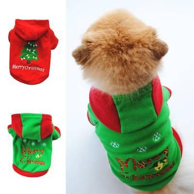 Hundebekleidung Katze Haustier Weihnachten Warm Mantel Cartoon Kostüm Welpe