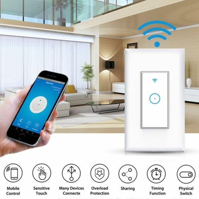 Smart Wifi Light Switch Voice Control Work for Amazon Alexa Google Home Life APP