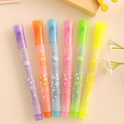 Highlighter Fluorescent Marker Water Pen Twin Tip School Kids Office Gifts