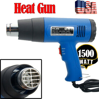 1500w Heat Gun Variable Dual Temperature Hot Air Gun With 4 Nozzles Power Heater