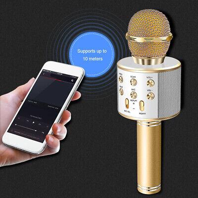 Portable Wireless Bluetooth Karaoke WS-858 Microphone USB KTV Player MIC Speaker