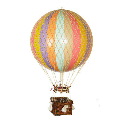 """Hot Air Balloon Model Pastel Rainbow Striped 13"""" Hanging Ceiling Home Decor New"""
