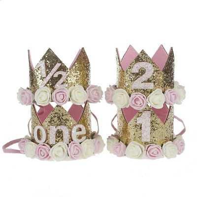Baby Jungen Mädchen Erster Geburtstag Party Hut Dekoration Haarzubehör Stirnband