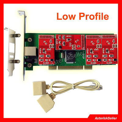 tdm410p asterisk Card with Low Profile  FXO Card FXS Card Issabel Freepbx tdm410