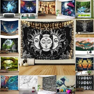 Hippy Home Decor (USA Hippie Psychedlic Tapestry Mandala Wall Hanging Bedspread Blankets Home)