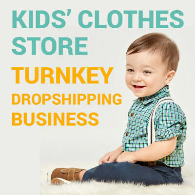 Kids Clothes Dropshipping Store - Turnkey Business Website