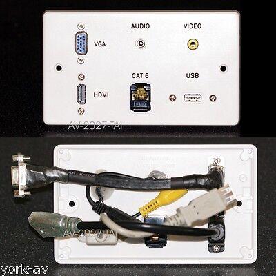 AV Wall Plate, HDMI / VGA / Audio Jack / Composite Video / USB / Network sockets Jack Wall Plate