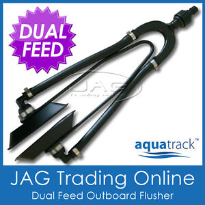 AQUATRACK-DUAL-FEED-OUTBOARD-BOAT-MOTOR-WATER-FLUSHER-ENGINE-EAR-MUFFS