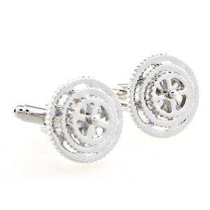 Bicycle Gears Bike Derailleur Pair Cufflinks Gift Box & Cloth Really Moves