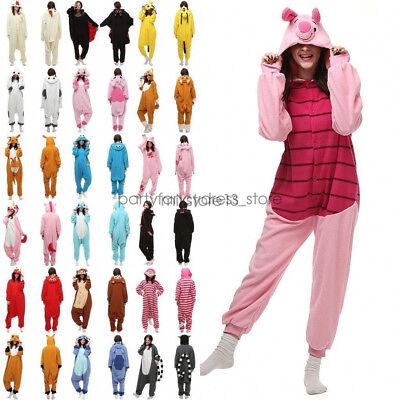 Einhorn Kostüm Erwachsene (Einhorn Pyjamas Kostüm Jumpsuit Tier Schlafanzug Erwachsene Fasching Karneval DE)