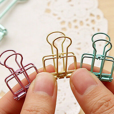 3pcsset Binder Clip Metal Classic Office Stationery Paper Documents Clip Hot