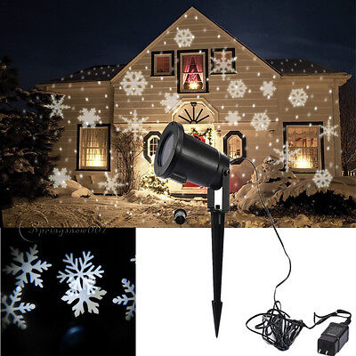 Uk snowflake led moving outdoor light landscape laser - Snowflake exterior christmas lights ...