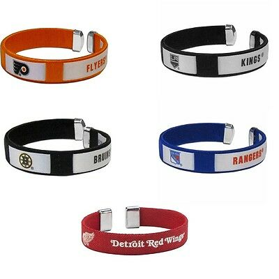 Nhl Fan - NHL Fan Band Bracelet Wristband Logo String Cuff Hockey Pick Your Team