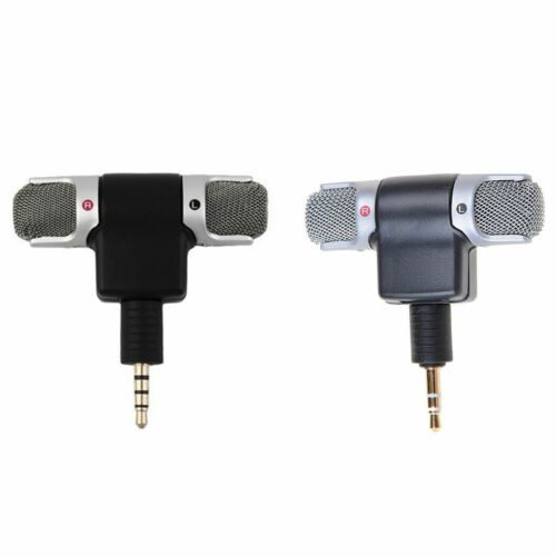 Mini 3.5mm Jack Microphone Wireless Stereo Mic For Recording