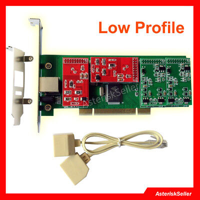 TDM400P with Low Profile,2 FXS+2 FXO FXS asterisk Card FreePBX Issabel IP Phone