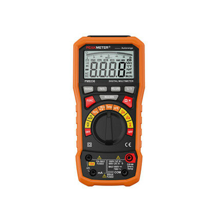 Peakmeter Digital Multimeter T-rms Usb 10a Duty Cycle Temperature Voltmeter