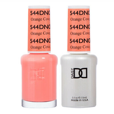 DND Daisy Duo Gel W/ matching nail polish lacquer - ORANGE C