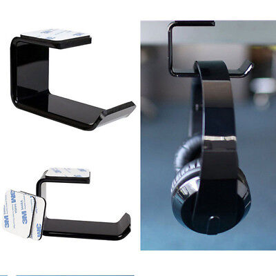 Headphone Hanger Headset Holder Stand Hook with Cable Organizer Under Desk