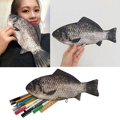 Popular Cosmetic Pouch Zipper Bag Purse Purse Fish Shape Zipper Pencil Case AG
