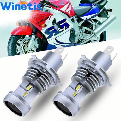 For Honda CBR 900RR Bulb 1992-1998 1999 LED 200W H4 Headlight White High Power