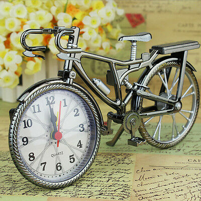 Model Desk Design Decoration Stand Clock Home Gift Bicycle Quartz Alarm Clock