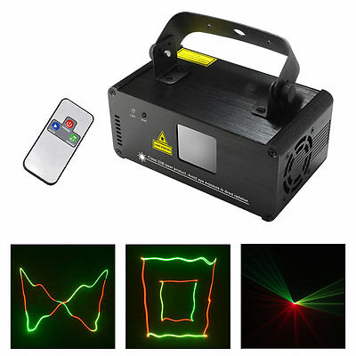 Mini SUNY DMX 8CH RGY Laser Lights DJ Party Bar Show Projector Stage Lighting