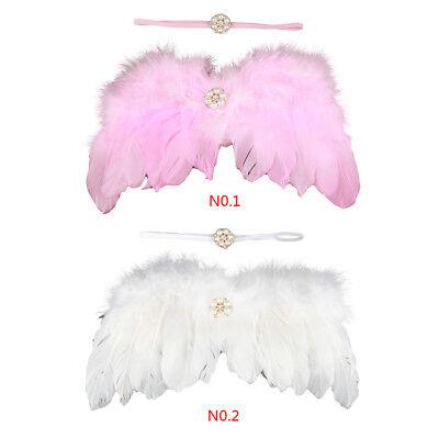 Engel Flügel Kostüm Fee Feder Kostüm Outfit für Baby Party ()