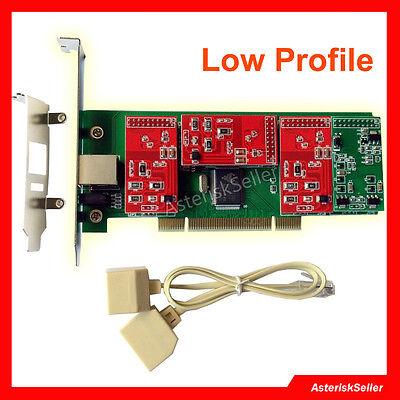 Asterisk Card TDM400P Low Profile TDM410P Freepbx Issabel FXO FXS For VoIP PBX