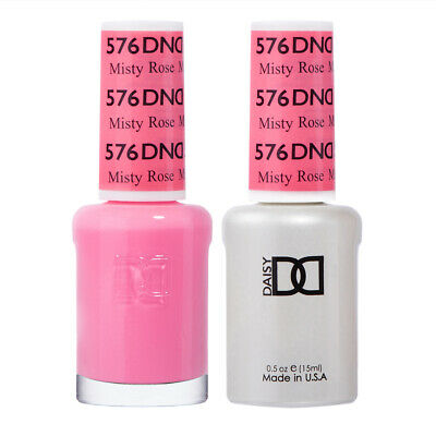 DND Daisy Duo Gel W/ matching nail polish lacquer - MISTY RO